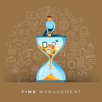 gestão do tempo nos negócios vetor
