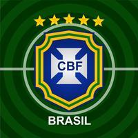Patch de futebol brasileiro vetor
