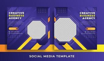 panfleto ou modelo de mídia social tema de negócios vetor