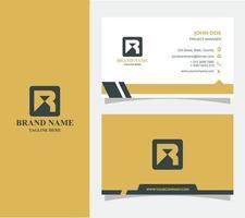 cartão de visita com vetor de logotipo r