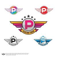 vetor do logotipo da letra p