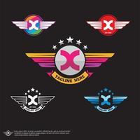 letra x logotipo do vetor