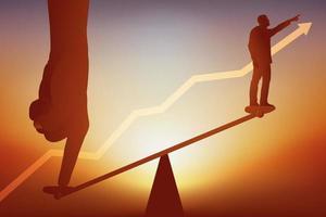 conceito de ajudar o crescimento dos negócios. vetor