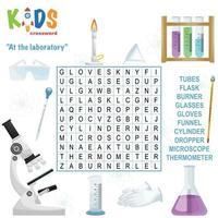 no laboratório de palavras cruzadas de busca de palavras vetor