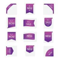 conjunto de emblemas de venda vetor