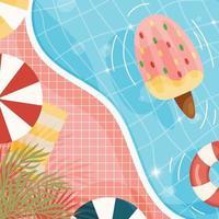 cartaz de fundo de piscina vetor
