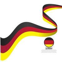 ilustração do vetor da bandeira da alemanha