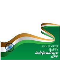 ilustração de design de modelo vetorial feliz dia da independência da Índia vetor