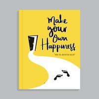 Capa de livro motivacional com letras de mão vetor