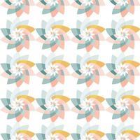 flor gráfico repetindo o fundo do padrão rosa azul vetor