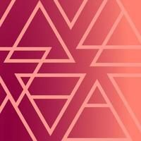 gráfico triangular neon brilhante padrão de fundo rosa vermelho vetor