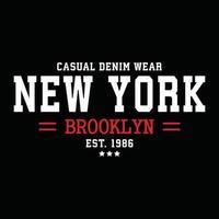 design de tipografia de roupas urbanas de nova york vetor