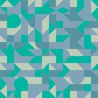 padrão geométrico minimalista sem costura com formas simples. fundo escandinavo abstrato. papel de parede de geometria azul e verde. vetor