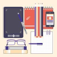 Elementos do designer gráfico de vetor e acessórios