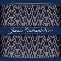 luxo japonês onda padrão de fundo