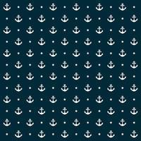 padrão náutico sem costura com âncoras e estrela vetor