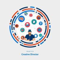 habilidades de diretor criativo desejadas vetor