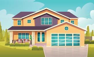 ilustração em vetor vista frontal da casa