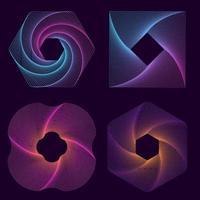 formas geométricas de arte de linha vetor