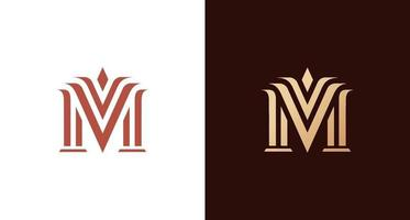 logotipo elegante e elegante letra m vetor