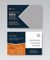 modelo de design de cartão postal imobiliário, modelo de design de cartão postal interior. vetor