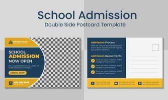 modelo de cartão postal de admissão de escola profissional moderna. vetor