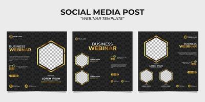 webinar sobre modelos de postagem de história em mídia social