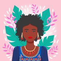 Mulheres de cor vector
