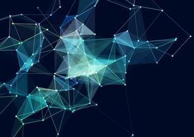 fundo abstrato com um design de plano de fundo de conexões de rede vetor