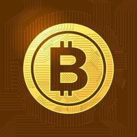 símbolo de criptomoeda bitcoin vetor