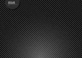 fundo de fibra de carbono preto kevlar e textura com iluminação. vetor
