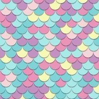 padrão abstrato escala de peixes motivo fundo cor pastel e textura. vetor