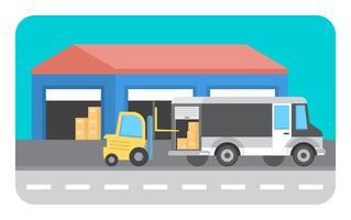 Ilustração de entrega