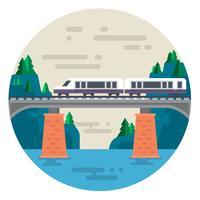 Ponte ferroviária vetor
