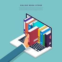 loja de livros online vetor