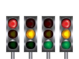 semáforo ilustração gráfico vetorial vetor