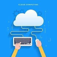 serviços de computação em nuvem vetor