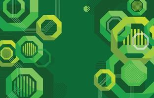 fundo geométrico verde em design plano vetor