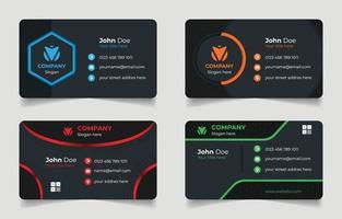 conjunto de modelos de cartão de visita vetor