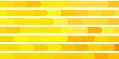 textura de vetor laranja clara com linhas.