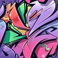 padrão sem emenda de graffiti estilo selvagem vetor