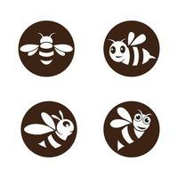 imagens do logotipo da abelha vetor