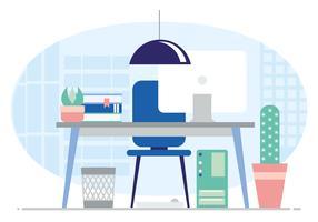 Ilustração de mobiliário de escritório de vetor
