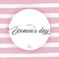 cartão de letras feliz dia da mulher vetor
