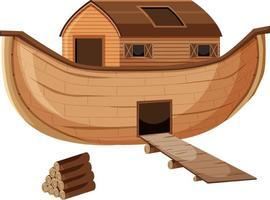 em branco estilo cartoon arca de noé isolado vetor