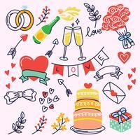 Elementos do casamento vetor