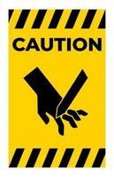 corte de dedos sinal de símbolo de lâmina em ângulo, ilustração vetorial, isolado na etiqueta de fundo branco .eps10 vetor