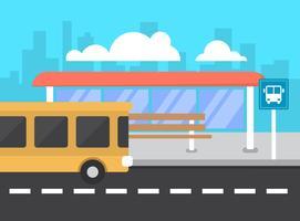 Ponto de ônibus vetor