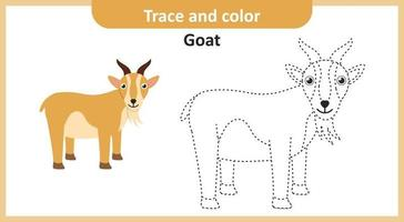 traço e cor de cabra vetor
