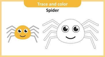 traço e aranha colorida vetor